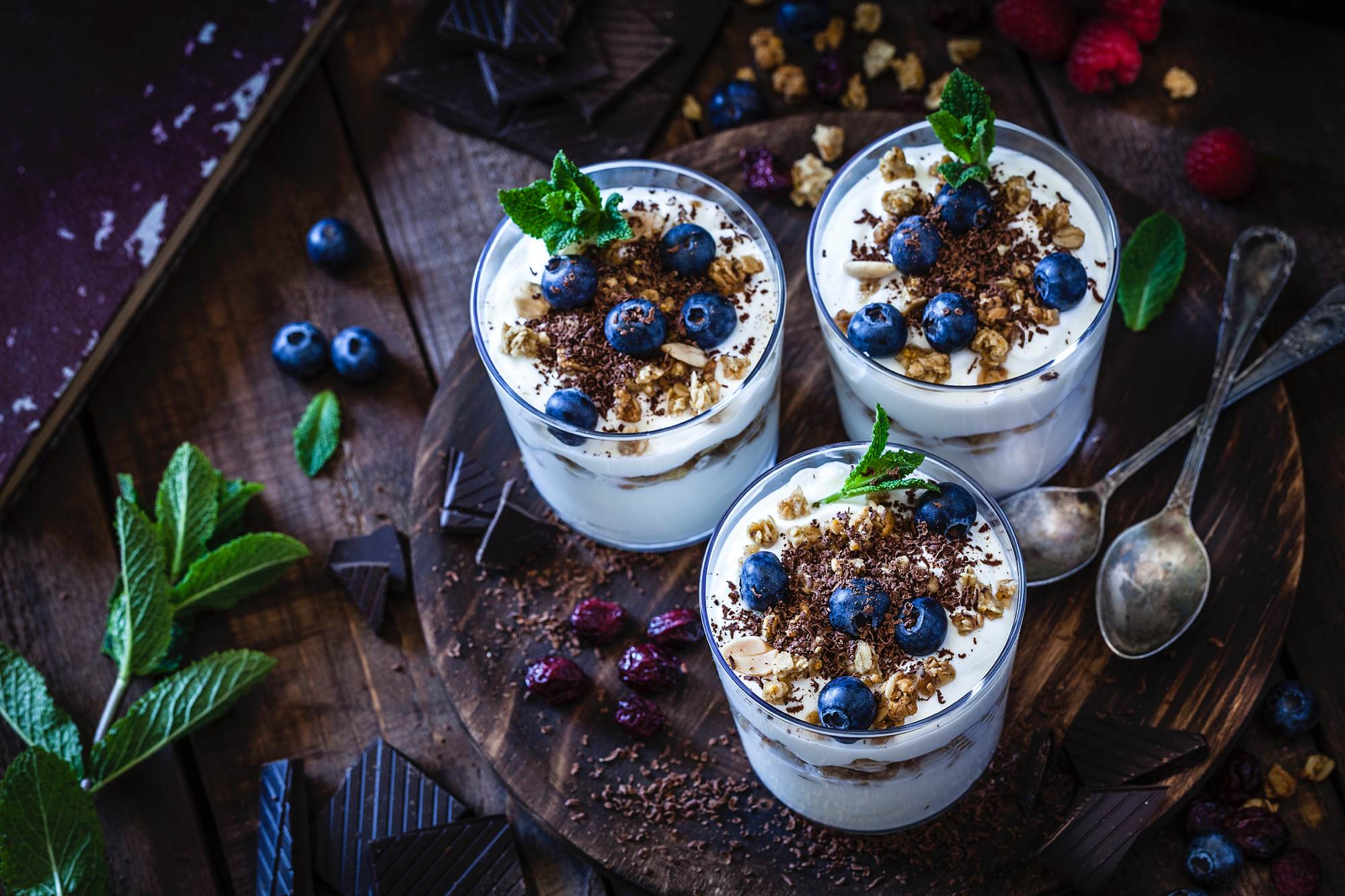 yogurt-with-granola-berry-fruits-and-chocolate