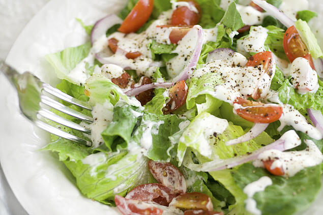 Formulate low fat ranch dressing