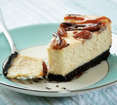 Turtle Cheesecake—Improve Texture with Grande Custom Ingredients